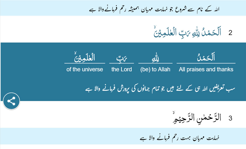 Word By Word Quran