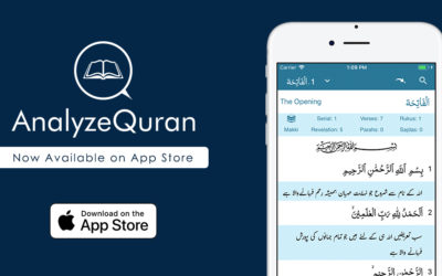 AnalyzeQuran now available on Apple App Store